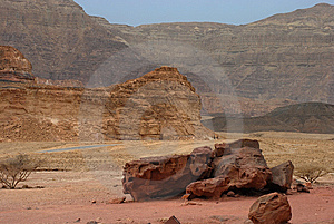 Stony Formations At Timna Park Royalty Free Stock Image - Image: 8559936