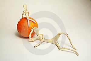 Paper Man With Fruit Royalty Free Stock Photos - Image: 8560018