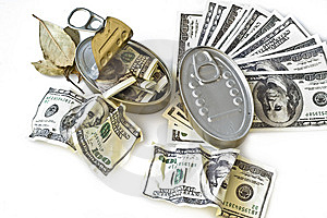 Boxes With American Dollars Royalty Free Stock Photography - Image: 8560037