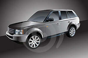 Silver Car Stock Image - Image: 8561121