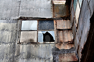 Shabby Broken Window Stock Photography - Image: 8561162