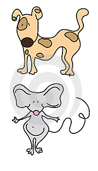 Dog And Mouse Royalty Free Stock Image - Image: 8561376