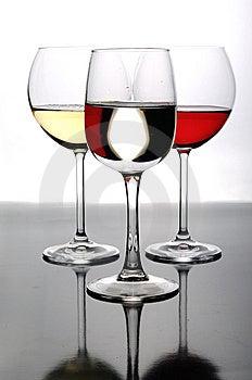 Three Glasses Of Wine Stock Image - Image: 8561671