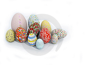 Easter Eggs Royalty Free Stock Photo - Image: 8562165