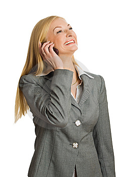 Portrait Of Calling Blonde Stock Images - Image: 8562174