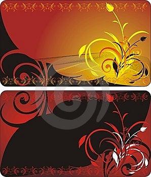 Bouquets. Decorative Floral Backgrounds Stock Image - Image: 8562181