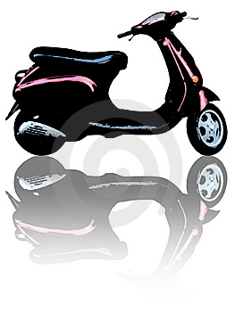 Scooter With Reflection Stock Photography - Image: 8562302