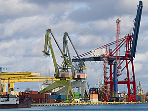 Container Terminal Stock Images - Image: 8562364