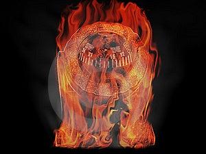 Burning Compass Stock Photography - Image: 8562672