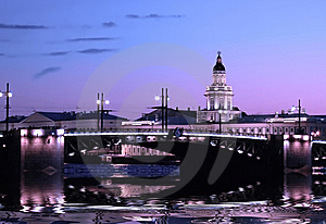Image Of A Night City Plot. Stock Photography - Image: 8563522