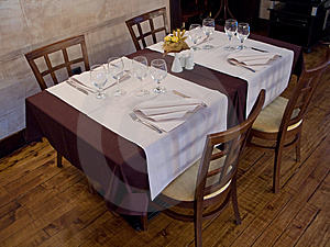 Table In Restaurant Stock Image - Image: 8564091