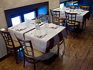 Tables In Restaurant Royalty Free Stock Image - Image: 8564146