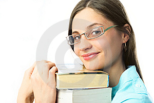 Happy Student With Books Royalty Free Stock Image - Image: 8564466