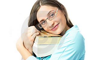 Happy Student With Books Royalty Free Stock Images - Image: 8564479
