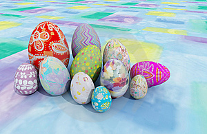 Easter Eggs Stock Images - Image: 8564634