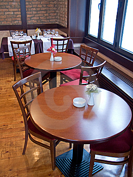 Tables In Italian Restaurant Royalty Free Stock Photos - Image: 8564668