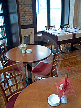 Tables In Italian Restaurant Stock Photography - Image: 8564792