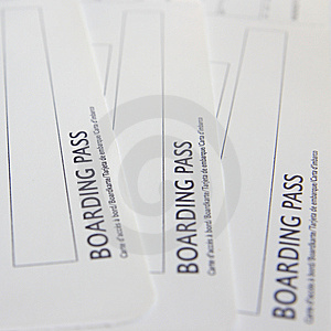 Boarding Pass Stock Image - Image: 8565231