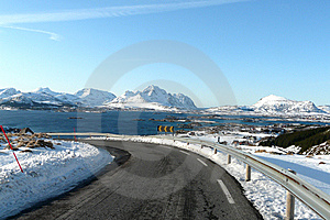 Lofoten's Dangerous Turn Stock Photography - Image: 8565632