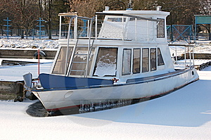 Frozen Ship Stock Image - Image: 8566141