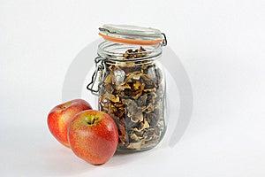 Wild Mashrooms & Apples Royalty Free Stock Photos - Image: 8566888