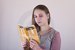 Girl Reading A Book Royalty Free Stock Photo - Image: 8567315