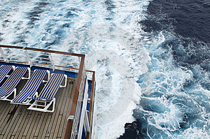 Ocean And Deck Chairs Stock Photo - Image: 8567790