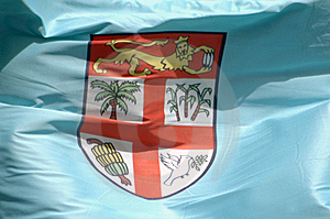 Closeup Of The Fijian Flag Royalty Free Stock Photo - Image: 8568225