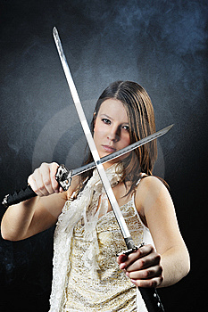Beauty Katana Killer Girl Royalty Free Stock Images - Image: 8568249