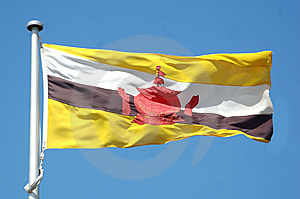 Flag Of Brunei Royalty Free Stock Photography - Image: 8568297