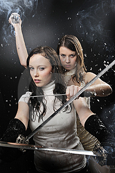Beauty Katana Killer Girl Royalty Free Stock Photography - Image: 8568347