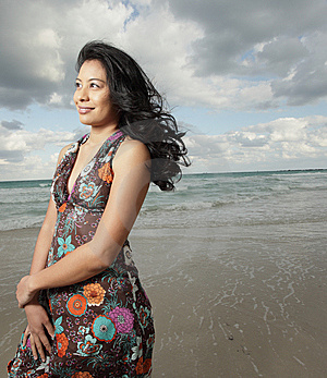 Young Woman On The Beach Stock Image - Image: 8568431