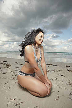 Woman On The Beach Stock Photo - Image: 8568440