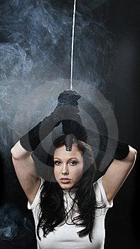 Beauty Katana Killer Girl Stock Photos - Image: 8568543