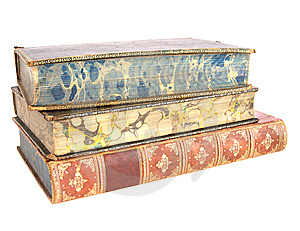 Pile Of Old Leather Bound Books Stock Images - Image: 8568644