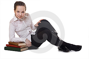 A Happy Schoolgirl Stock Images - Image: 8568894