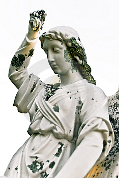 Grieving Angel On The Old Cemetery Stock Image - Image: 8569181