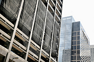 Skyscraper Blasted By Hurricane Stock Photo - Image: 8569240