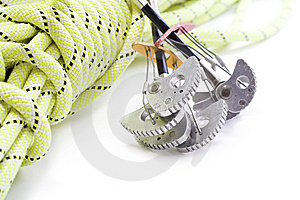 Camming Device And Rope Stock Image - Image: 8569241