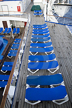 Blue Deck Chairs Royalty Free Stock Photo - Image: 8569825