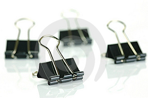 Fold Back Paper Clips Royalty Free Stock Images - Image: 8570129