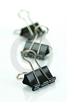 Fold Back Paper Clips Stock Image - Image: 8570131