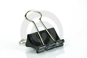 Fold Back Paper Clips Royalty Free Stock Photos - Image: 8570138