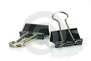 Fold Back Paper Clips Royalty Free Stock Images - Image: 8570139