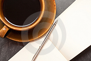 Coffee And Notebook Stock Photos - Image: 8570193
