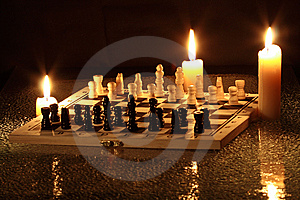 Night Chess Stock Photos - Image: 8570643