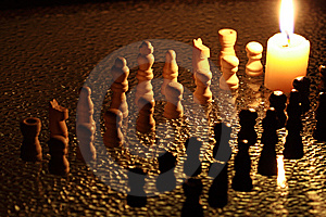 Night Chess Stock Photography - Image: 8570712