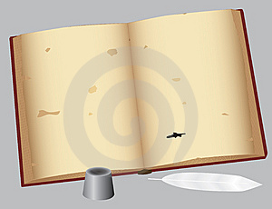 An Old Book With A Pen Stock Images - Image: 8570854