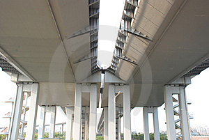 The Bridge Columns And Bottom Royalty Free Stock Photos - Image: 8571178