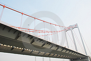 The Modern Cable Stayed Bridge Royalty Free Stock Photography - Image: 8571187